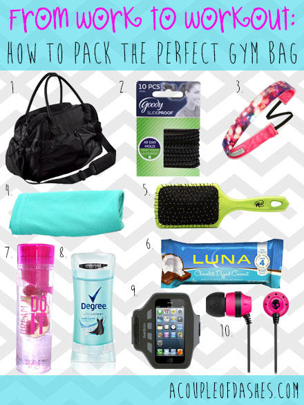 Pack the perfect gym bag'