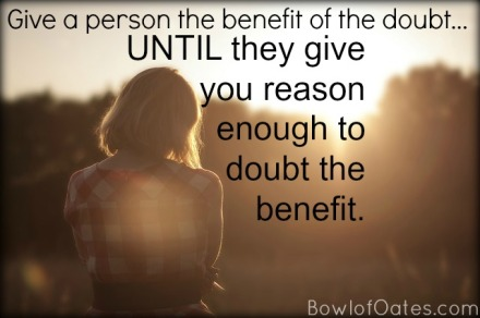 Benefit-of-doubt